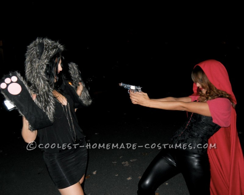 """""""bang bang bang"""" she shot the wolf in the head"""