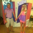 Last year, my boyfriend and I went as Barbie and Ken in a box. I wanted to do something unique, and although we saw another Barbie and Ken at a party