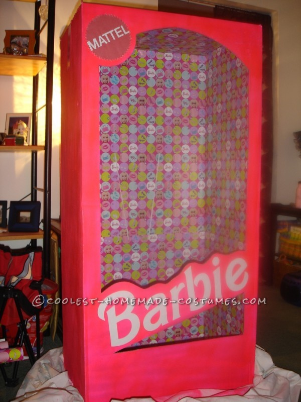 Coolest Homemade Barbie in a Box Halloween Costume - 2