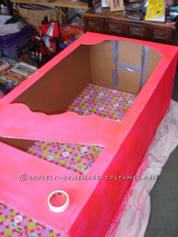 Coolest Homemade Barbie in a Box Halloween Costume - 1