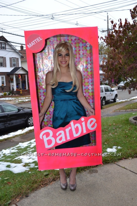 Coolest Homemade Barbie in a Box Halloween Costume
