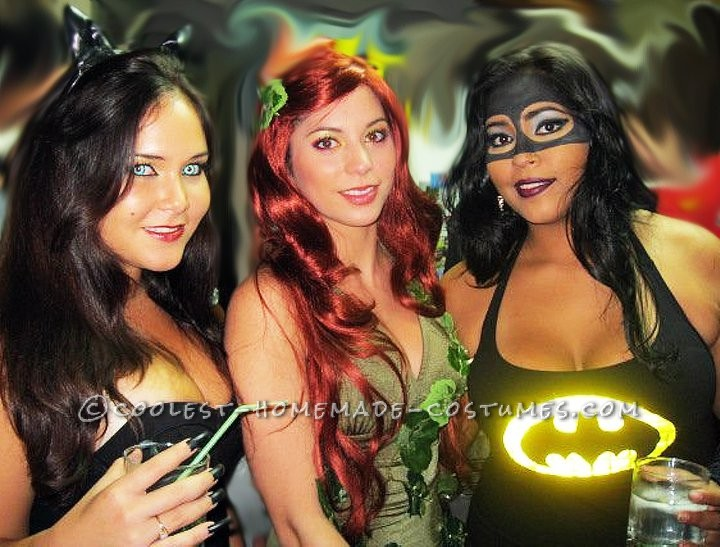 Coolest Batman, Catwoman and Poison Ivy Girl Group Costume