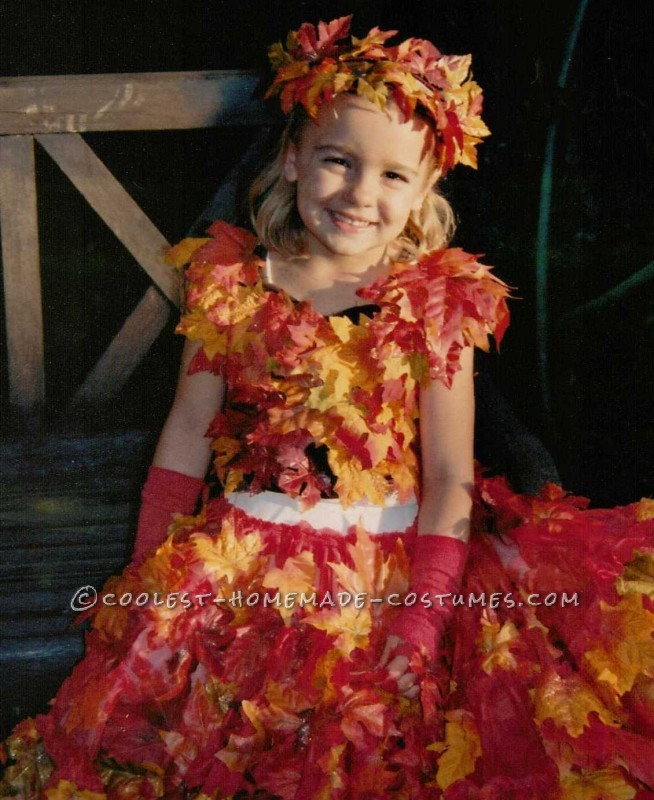 Beautiful Pile of Fall Leaves Costume - 2