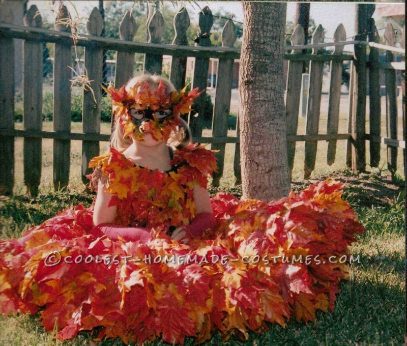 Beautiful Pile of Fall Leaves Costume - 4