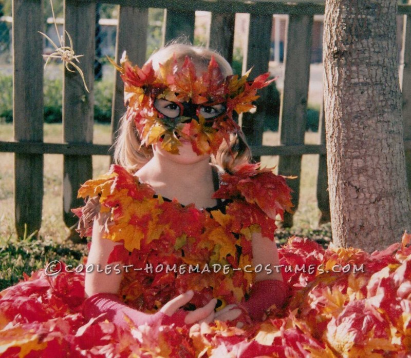Beautiful Pile of Fall Leaves Costume - 5
