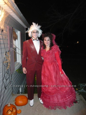 The key to this costume is to plan ahead. For the better part of a year before Halloween, I would check the wedding dresses section of my local