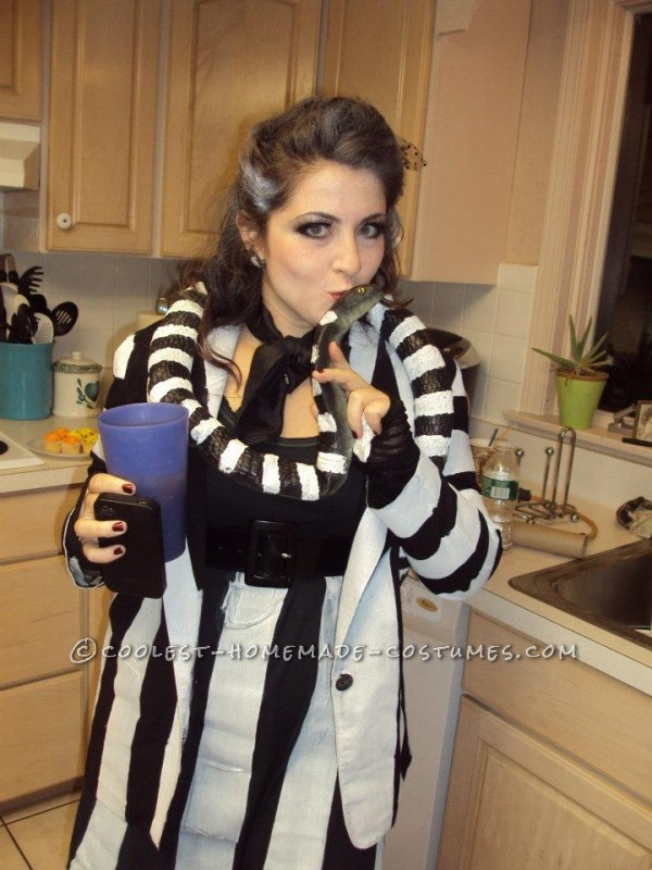I wanted to create a Beetlejuice costume that was clearly beetlejuice- but also had a little bit of my own twist to it .. plus I wanted it to be a co