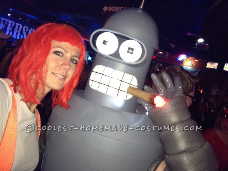 Bender from FuturamaI spent two, make that 2 months, hundreds of hours, and over $250 in materials and pieces to make this costume come to life. It i
