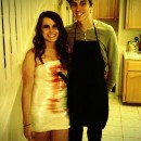 Our favorite show is Dexter so we loved the idea of creating an easy, inexpensive, yet memorable Dexter couples costume. Dexter costume: 1. G