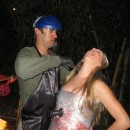 This Dexter and victim costume is very easy to put together. Everyone at the party loved our costumes.Dexter:-Green Long Sleeve Henley Sh