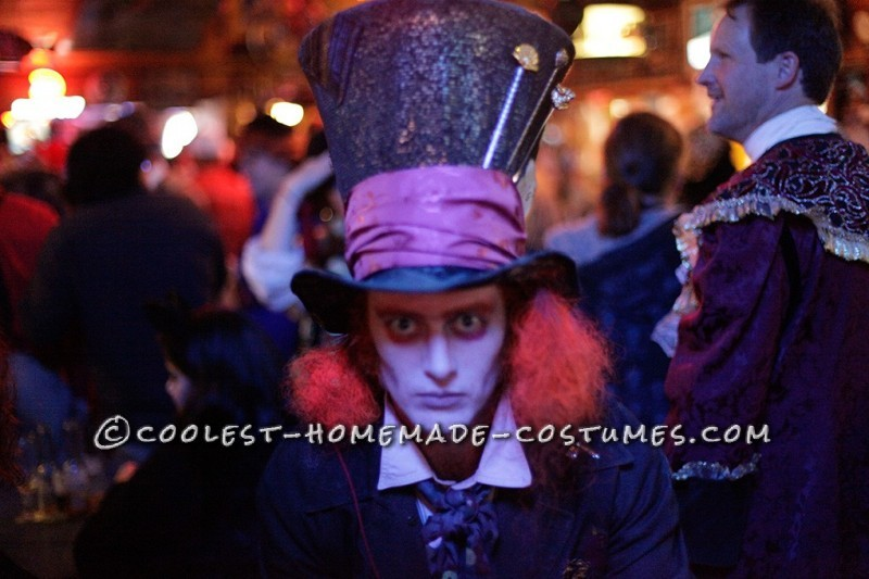 Coolest Home Made Mad Hatter Halloween Costume - 4