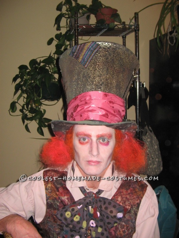 Coolest Home Made Mad Hatter Halloween Costume