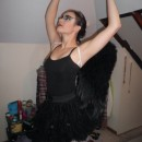 I found this awesome black feather wings for about $12 at a gay pride store and then decided I was definitely going to be Natalie Portman from Black