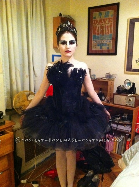 The Black swan costume...There were so many of these but I was determined to have it down to a t.First I got a black tutu and bodice. I danced for