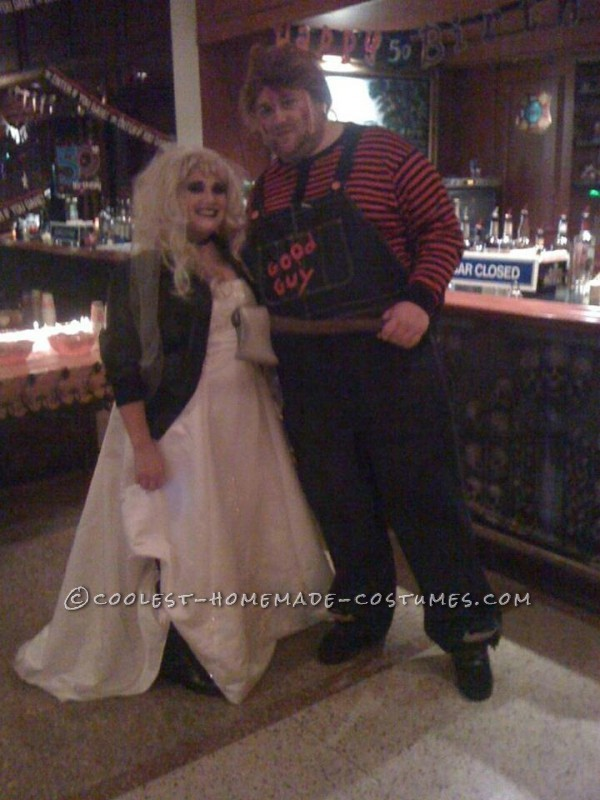 Bride of Chucky Costume http://ideas.coolest-homemade-costumes.com/2012/10/02/coolest-chucky-bride-chucky-homemade-halloween-couple-costume/