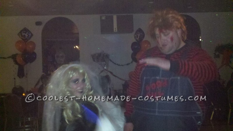 Both the wigs where purchased as a halloween store. I was not able to find a Chucky wig so I had to buy a hill billy red wig and cut it to match Chuc