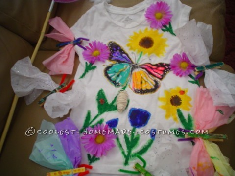 I bought the top and bottom. The big  butterfly was already on there so I created it from there. Everything else was painted on . For detai
