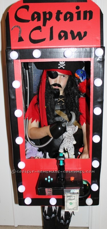 Coolest Homemade Captain Claw Pirate Crane Machine Costume - 1