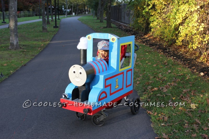 Thomas and his happy engine driver!