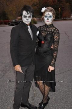Cheap Last-Minute Dia de los Muertos Couples Costume