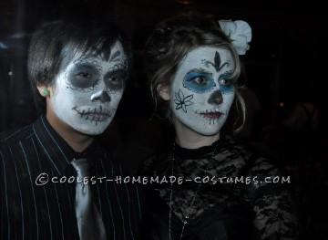 Cheap Last-Minute Dia de los Muertos Couples Costume - 1