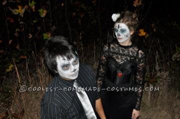 Cheap Last-Minute Dia de los Muertos Couples Costume - 2
