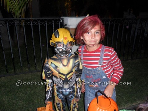 Our son was 2 and had no idea who we were dressing him up as , so before he would take control of Halloweens to come we had to have this one. We made