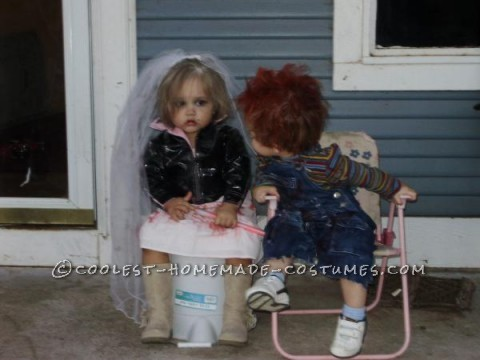 While brainstorming costume ideas for my daughter and nephew, the idea of chucky crossed my mind which was perfect, seeing that my nephew kinda resem