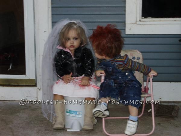 coolest child couple costume chucky and tiffany bride of chucky
