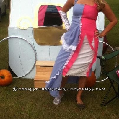 Original Cinderella (Before and After the Godmother) Homemade Costume - 2