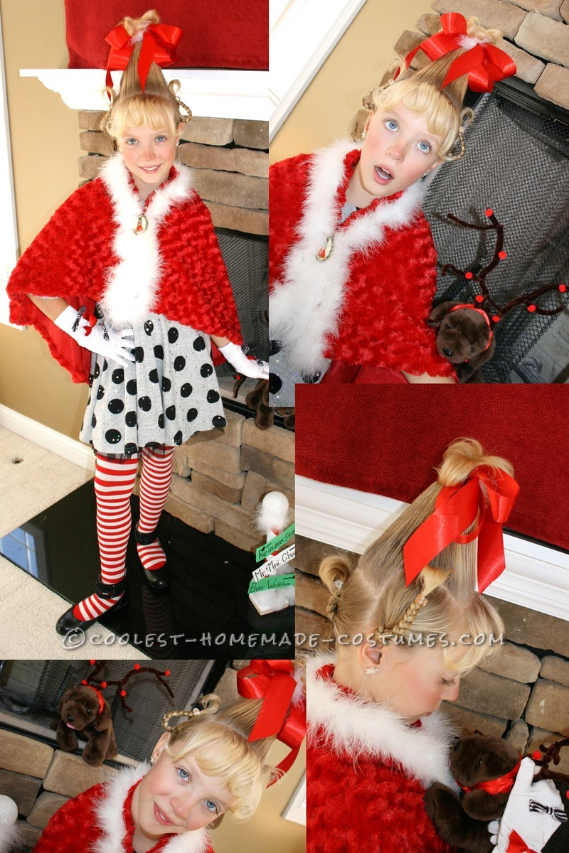 Cool Cindy Lou Who Homemade Girls Halloween Costume