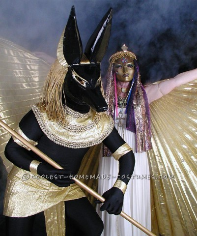 Constructing our Anubis and Isis Costumes