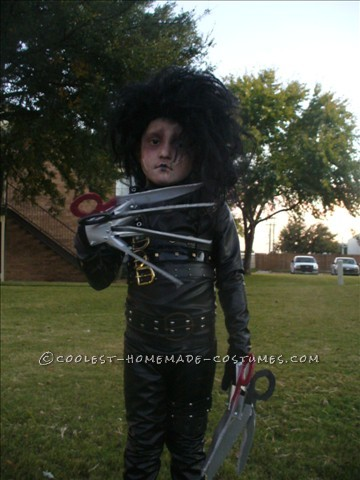 Cool Home Made Edward Scissorhands Costume