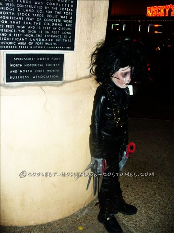 Cool Home Made Edward Scissorhands Costume - 1