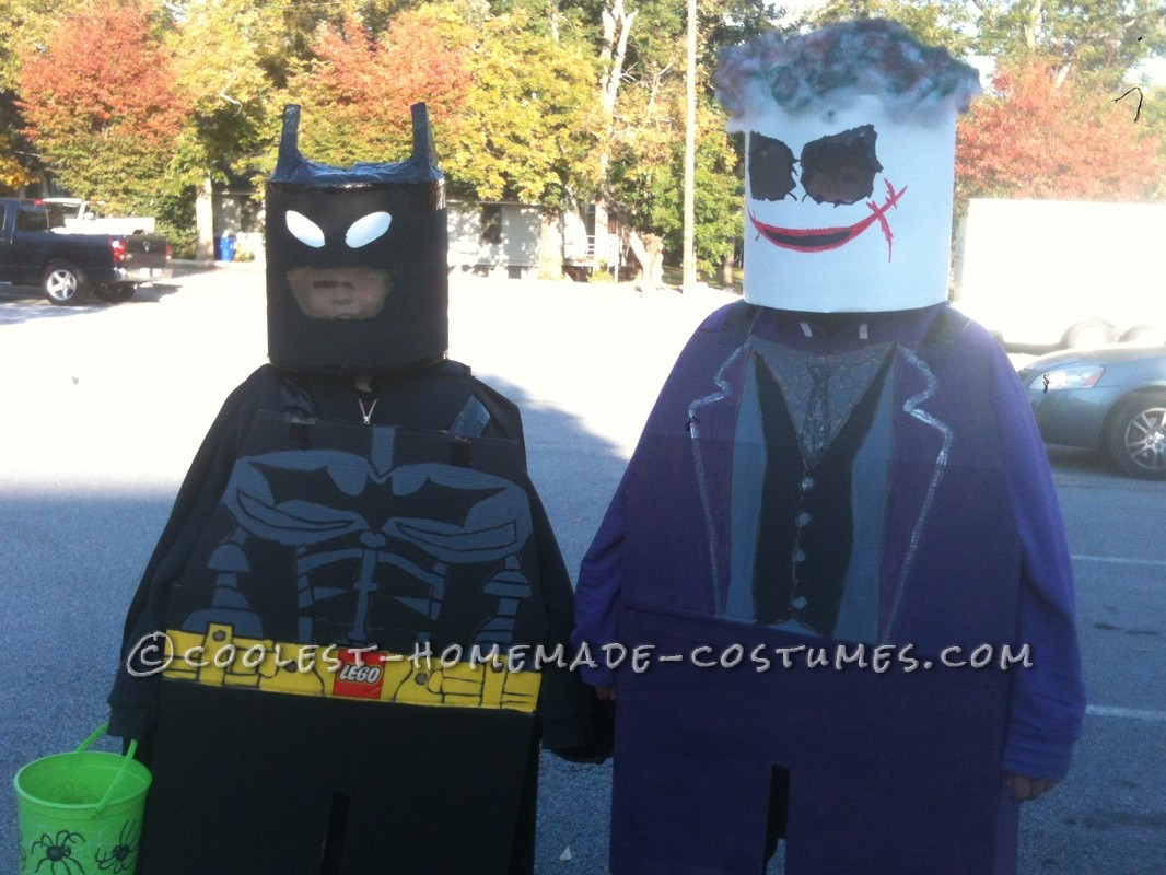 My boys love Batman. My boys love Legos. So, with inspiration from other minifig costumes here on this website, I began to create their costumes. &nb
