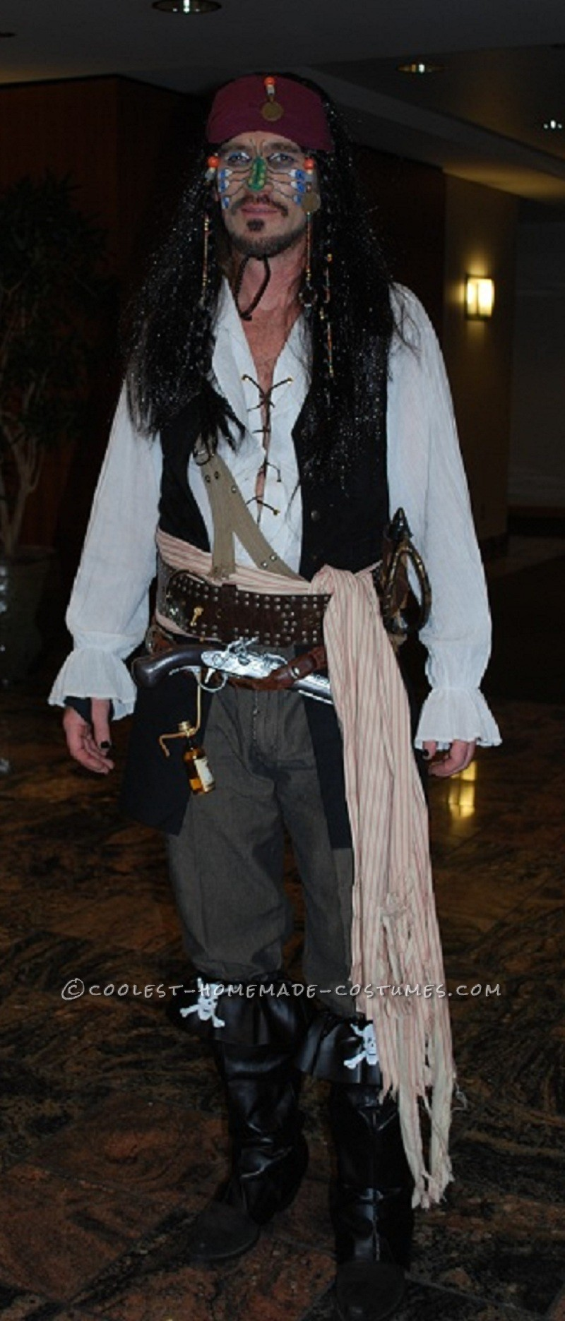 Coolest Captain Jack Sparrow Homemade Halloween Costume