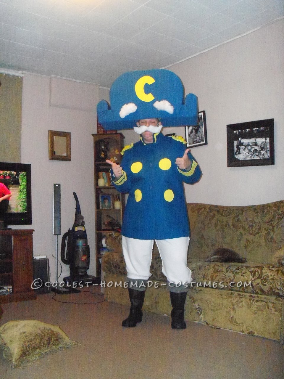 I love making homemade costumes as do my girls. I got this idea from this site. I needed a costume for three parties I was going to and I