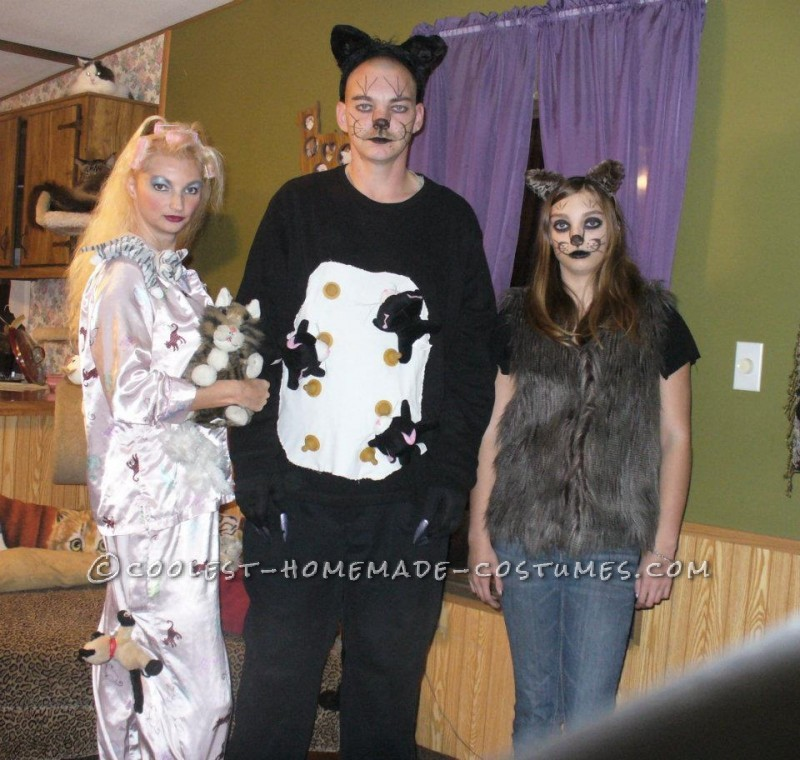 Coolest Crazy Cat Lady and Cats Group Costumes