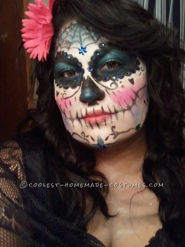 Very Cool Last-Minute Dia de los Muertos Makeup - 1