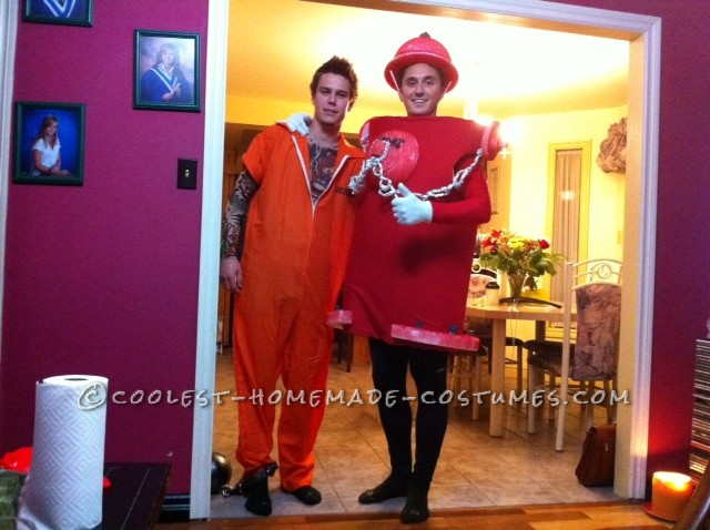 Coolest Adult Halloween Fire Hyrdrant Costume - 1