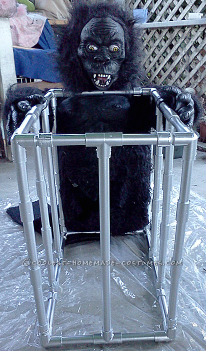 Gorilla Suit With Cage Attached