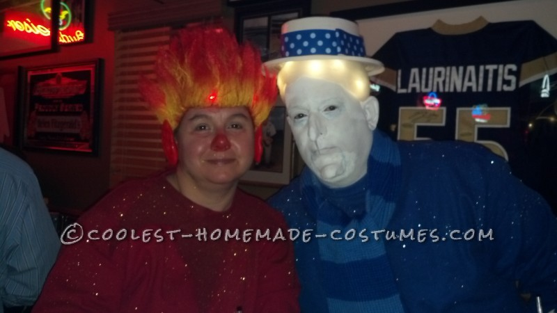 Coolest Heat Miser and Snow Miser Couple Halloween Costume