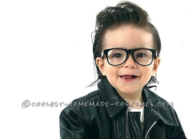 cute homemade greaser baby costume