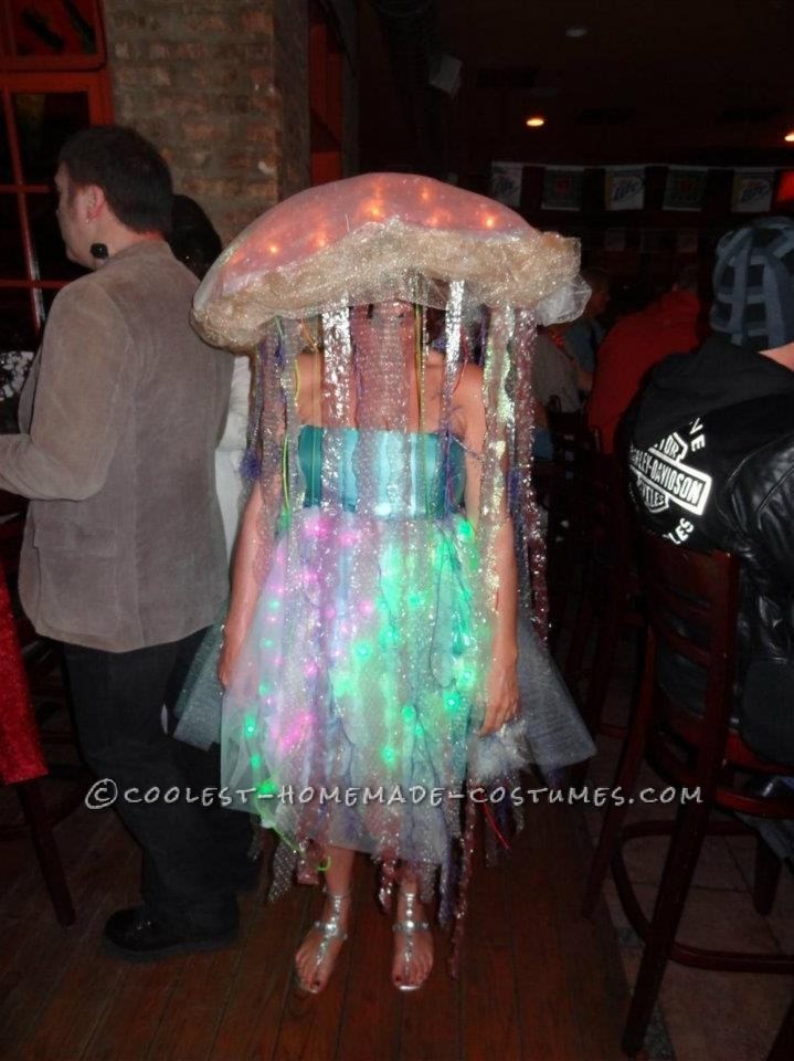 Coolest Homemade Glowing Jellyfish Costume