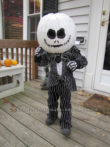 He is four, and his favorite movie is The Nightmare Before Christmas…. It's Halloween time, so he wants to be Jack the Pumpkin King, of cours