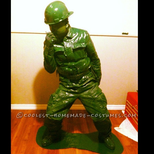 Coolest Plastic Toy Soldier Homemade Halloween Costume