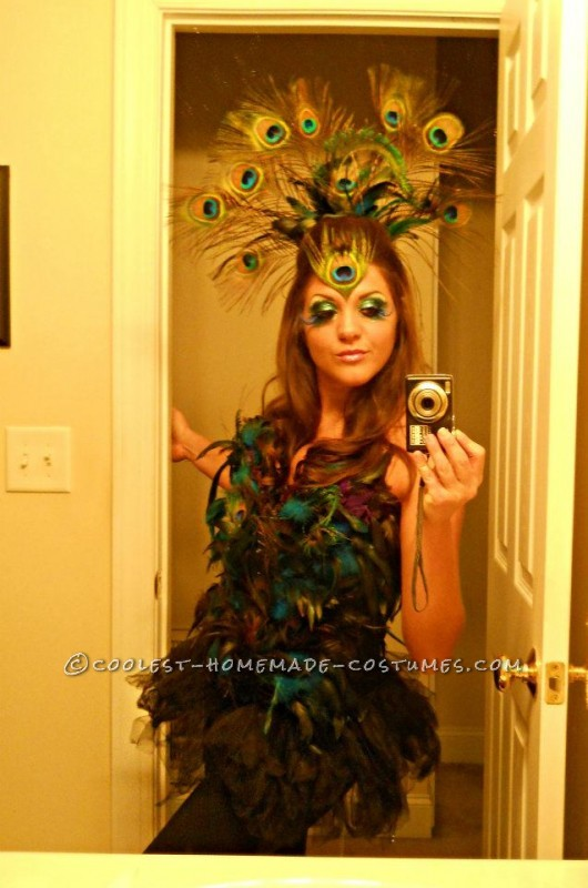 Coolest Homemade Sexy Peacock Costume
