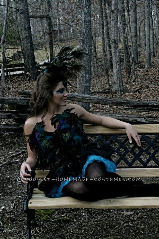 Coolest Homemade Sexy Peacock Costume - 3