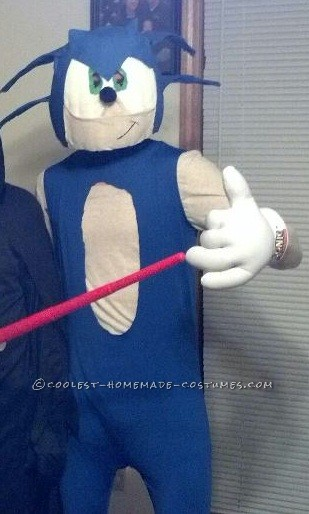 Coolest Homemade Sonic The Hedgehog Halloween Costume - 1