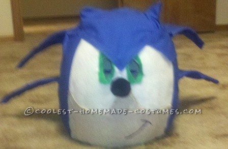 I decided to go as Sonic The Hedgehog this year, but knew I\'d run into problems. The only way to get the costume was to to make it, couldn\'t fi